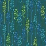 Цветочный узор с колосками и травой Стоковые Фотографии RF