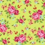 Цветочный узор с красной розой Стоковая Фотография