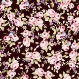 Цветочный узор с маленькими розовыми розами Стоковая Фотография