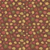 Цветочный узор с покрашенными розами иллюстрация вектора