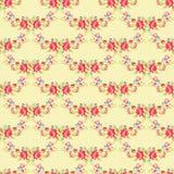 Цветочный узор с розами пинка сада Стоковые Изображения RF