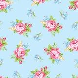 Цветочный узор с розами пинка сада Стоковые Изображения