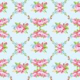 Цветочный узор с розами пинка сада Стоковая Фотография