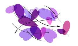 Цветочный узор с сердцами и листьями стоковые изображения