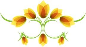 цветочный узор с тюльпанами Стоковые Фото