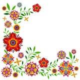 Цветочный узор с цветками и листьями Стоковые Изображения RF