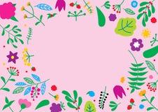 Цветочный узор с vcopy космосом для вашего текста Ретро концепция цветка природы Стоковая Фотография RF
