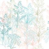 Цветочный узор ткани моды в голубых и розовых цветах бесплатная иллюстрация