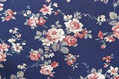 Цветочный узор ткани текстуры предпосылки стоковые изображения