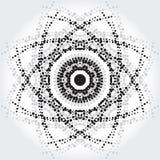 Цветочный узор черных и серых точек на серой предпосылке Стоковое фото RF