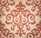 Цветочный узор штофа Обои в барокк Стоковая Фотография
