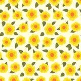 Цветочный узор Ditsy с малыми daffodils иллюстрация штока