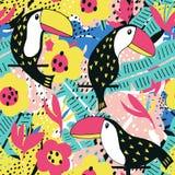 Цветочный узор Toucan Стоковые Изображения RF