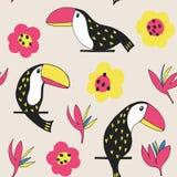 Цветочный узор Toucan Стоковые Фото