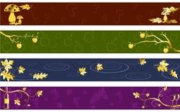 цветы знамен осени темные Стоковое Изображение