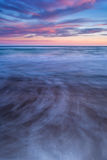 Цветы и движение на пляже на заходе солнца. Стоковые Изображения