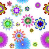 цветы клетки предпосылки Стоковое Изображение RF