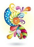 Цветы конспектов в белизне Иллюстрация вектора