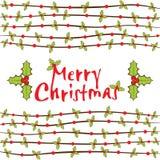 цветы рождества карточки конструируют editable приветствие веселое Стоковое Изображение RF