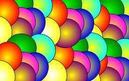 цветы цвета шариков предпосылки яркие иллюстрация вектора