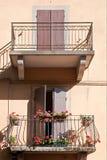Цветя балконы Стоковое фото RF