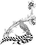 Цветя дерево и фазан Стоковое Фото