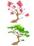 цветя зеленый вал Иллюстрация вектора