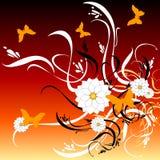 цвет бабочки 58 искусств флористический Иллюстрация вектора