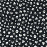 Цвет безшовной картины снежинки рождества белый на черной предпосылке для украшения рождества Стоковая Фотография RF