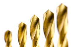 Цвет бронзы металла бурового наконечника Стоковое Фото