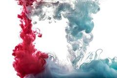 Цвет брызгает чернил стоковые фотографии rf