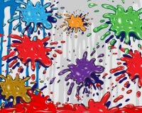 цвет брызгает Стоковое Изображение RF