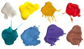 цвет брызгает Стоковая Фотография