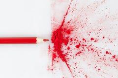 Цвет взрывая от красного карандаша Стоковое Фото