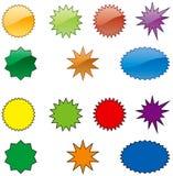 цвет взрывов Стоковые Фото