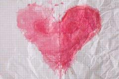 Цвет воды на старой checkered бумажной предпосылке текстуры Стоковое Изображение