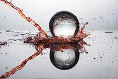 Цвет выплеска хрустального шара Стоковые Фотографии RF