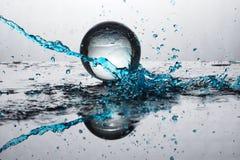 Цвет выплеска хрустального шара Стоковые Изображения