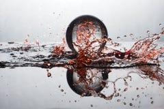 Цвет выплеска хрустального шара Стоковая Фотография RF