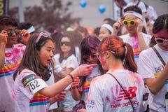 Цвет выставочного центра Чунцина, который побежали в молодые люди Стоковые Изображения