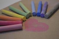 Цвет влюбленности сердца Стоковое Изображение
