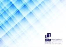 Цвет геометрических элементов голубой с дизайном предпосылки конспекта точек современным бесплатная иллюстрация