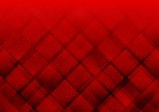 Цвет геометрических элементов красный с предпосылкой вектора точек абстрактной иллюстрация штока