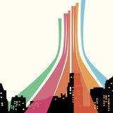 цвет города Иллюстрация штока