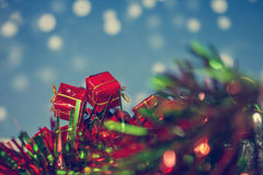 Цвет года сбора винограда предпосылки рождества подарочной коробки Стоковое Изображение RF