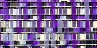 Цвет графического фасада строя ультрафиолетов стоковое изображение