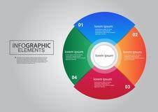 Цвет дизайна вектора элементов диаграммы делового круга infographic Стоковая Фотография RF