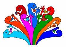 Цвет еды Varius Стоковые Изображения