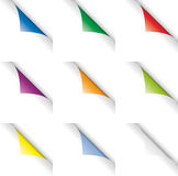 цвет завивает страницу Стоковое фото RF