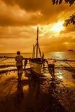 Цвет захода солнца Стоковые Фотографии RF